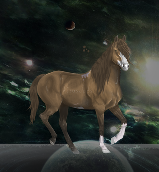 Amon, the space horse by Astusapes