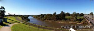The Belmore Bridge in widescreen - Maitland by shamanau