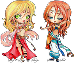 - COMMISSION -  Chibi Analys and Deniya - by ooneithoo