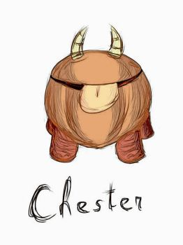 Quick finger sketch - Chester - with filter by VirShi