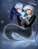 Jack Frost + Danny Phantom - Guardians of Ice by slifertheskydragon
