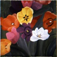 Flowers - Acrylic by clarearies13