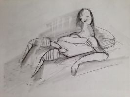 Reclining Woman 2 by TheDreadfulPencil