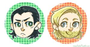 Thor and Loki by weallscream4icecream