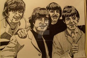 The Beatles by LVMysticmirrorsart