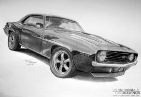 '69 Chevrolet Camaro SS by SD1-art