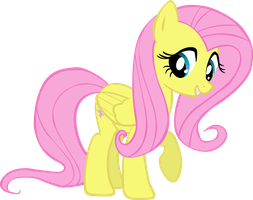 1st fluttershy vector by stillstartrekn
