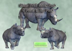 Rhino PNG Stock Pack by Roys-Art