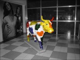 abstract cow by thitz