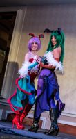 Lilith and Morrigan Aensland 2 by Insane-Pencil