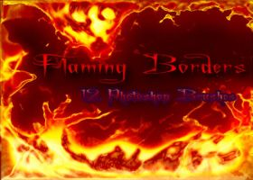 flaming borders by sancha310sp