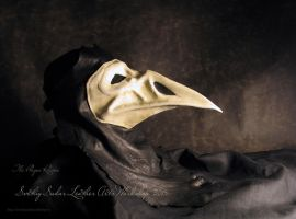 Leather mask - The Plague Raven by Svetliy-Sudar