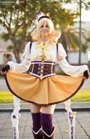 A Proper Lady should Always Curtsey - Mami Tomoe by GaMeReVX