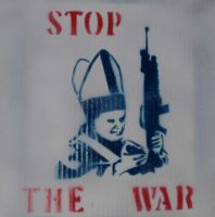 Stop The War Stencil by meccavelli