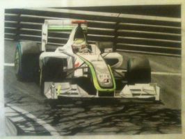Jenson Button, 2009 Brawn Mercedes, Monaco GP by Olleandro