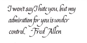Fred Allen - My Admiration by MShades
