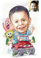 My Baby Caricature by MaeztroRonnel