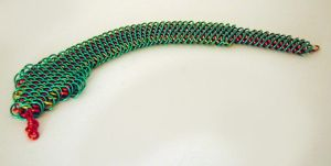Snake Bracelet by chainmaille