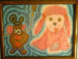 Sherman the Shrooming Poodle and Mr. Potato Head by Cecilia-Schmitt