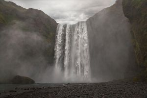 Skogafoss waterfall Iceland by Wodger