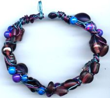 Wire Woven Bracelet by webgoddess