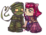 [Commission] Amumu and Annie by RavenNoodle