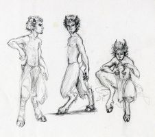 fauns by Shalladdrin
