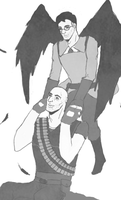 Bird Medic and Heavy by M0WC3