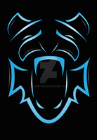Blue Tiger Logo Design ForSale by KThirteen