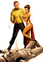Star Wars meets Star Trek - Kirk and Leia by Robert-Shane
