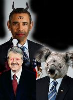 Photomanip Dump: Obama and Ted by Chuck-the-ADDragon