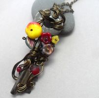 Passage Necklace no. 259 The Poisoned Apple by sojourncuriosities