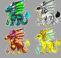 Sparkalite Dragons +Adopts for Sale+ (4 OPENED ) by iSapphirus