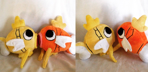 Normal and Shiny Magikarp Plush by Glacdeas