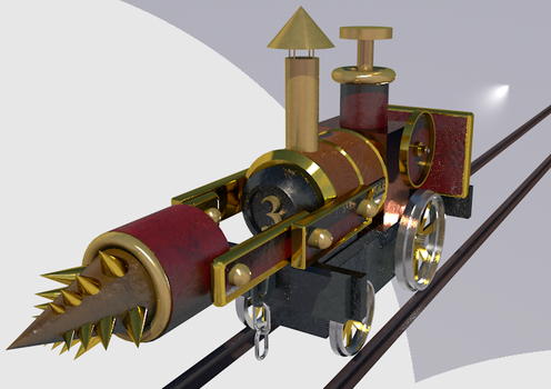 Steampunk Drilling Traction Engine by tombola1993