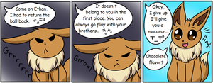 The Eevee Army #10: Cheer up by HappyNinjaPichu