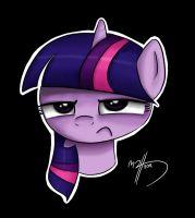Tonal Grumpy Twilight Sparkle by MateusUK