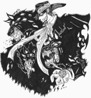 Alucard and Hellhounds by TheLaughingChimera