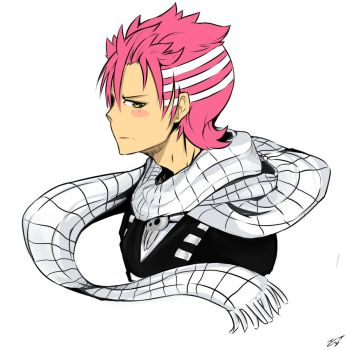 Fusion Natsu Dragneel / Death the Kid. by Goobieroo