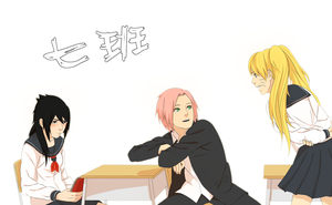 Konoha High School - Team 7(gender-bender) by steampunkskulls