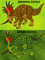 Styracosaurus the Color Shifter by BrandonSPilcher