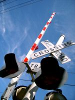 Rail Road Sign by Zeds-Stock