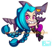 LoL Jinx chibi by tea-tiger