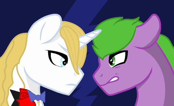 Spike Vs Blue Blood by Heartpawphoenix16