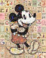 Mickey Mouse Retro Mosaic by Cornejo-Sanchez