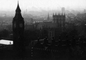 Black and White London by Emasone