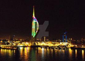 Portsmouth Harbour by Night by Kevin-Welch