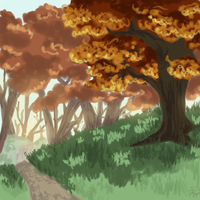 Wooded Path by WildWolfShike