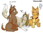 Ed-dog, Al-dog and Aru by Heliotrope-Housecat