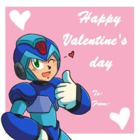 Megaman X - Happy Valentine's day!!! by Ask-Megaman-X